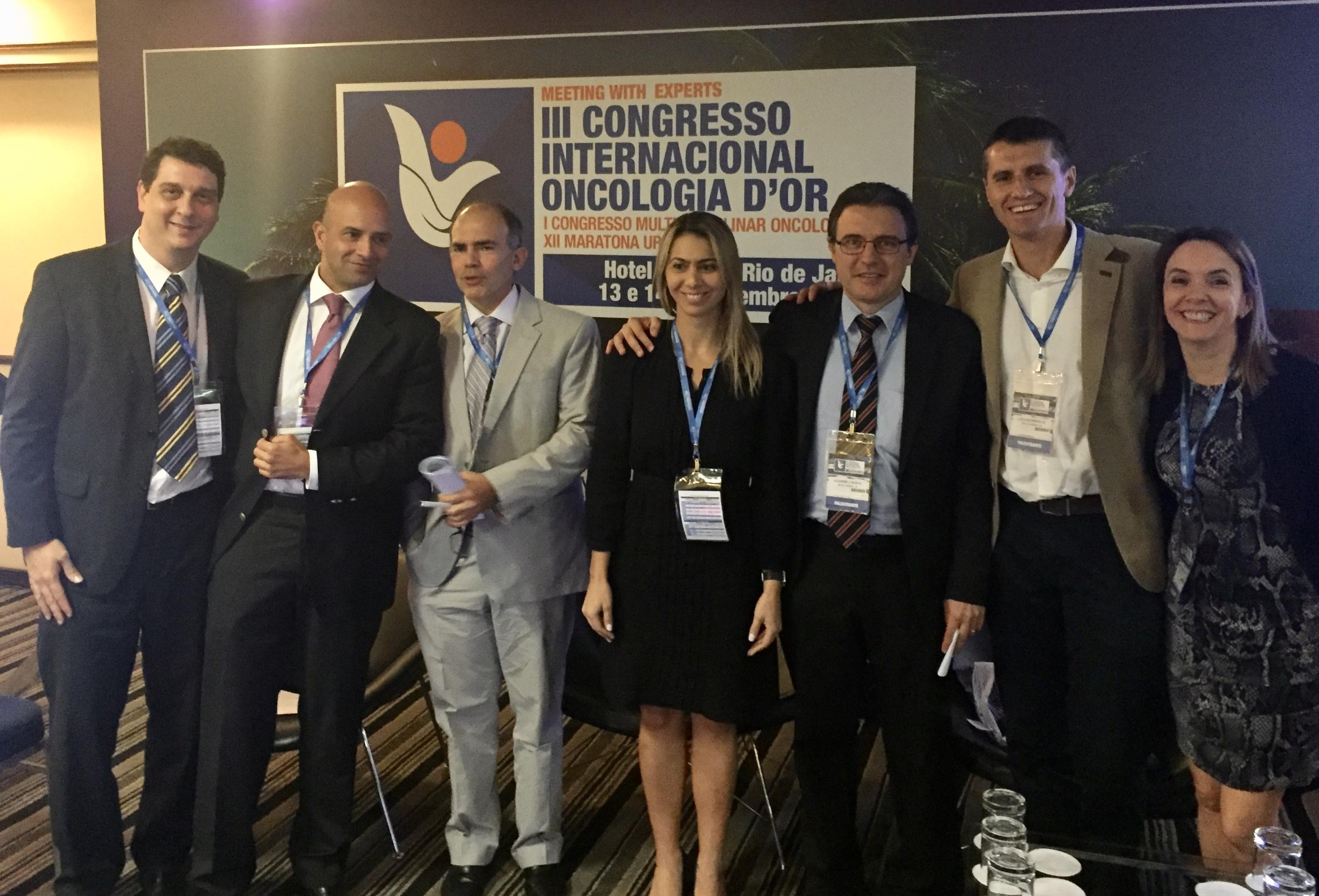 Dr. Hugo P Marques (POR),Dr. Lucio Pacheco (RJ), Dra. Ana Carolina Nobre (RJ), Dr.Alexandre Cerqueira (RJ), Dr.Jose Hugo (POR) e Dra.Maria de Lourdes Oliveira (RJ)- III Congresso Internacional Oncologia D'Or - Nov 2015